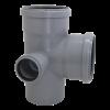Крестовина канализационная двух-плоскостная ЛЕВАЯ 110x110x50*87,5° мм
