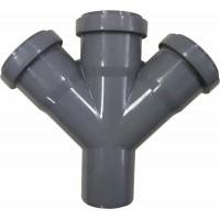 Крестовина канализационная одноплоскостная 50x50x50*45° мм