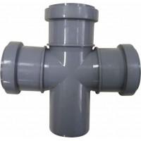 Крестовина канализационная одноплоскостная 50x50x50*87,5° мм