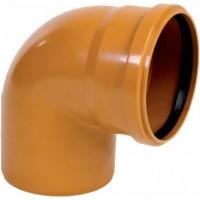 Отвод канализационный ПВХ 110*87,5°