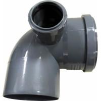 Отвод канализационный универсальный 110x50*87,5° с Правым выходом