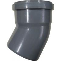 Отвод 110*45° мм канализационный ПП (полипропилен, серый цвет)