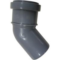 Отвод канализационный 50*45° мм