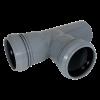 Тройник 50x50*87,5° мм канализационный ПП (полипропилен, серый цвет)