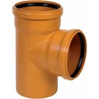 Тройник канализационный ПВХ 110x110*87,5°