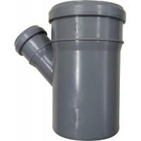 Тройник 110x50*45° мм канализационный ПП (полипропилен, серый цвет)