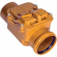 Обратный клапан D110 мм (рыжий цв.,мех. затвор)