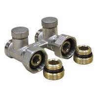 Гарнитура 1/2-3/4 прямая для радиаторов с нижним подключением