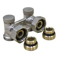Гарнитура 1/2-3/4 угловая для радиаторов с нижним подключением