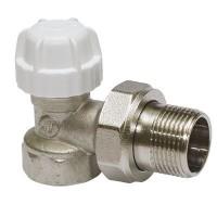 Клапаны запорные угловые радиаторные с колпачком