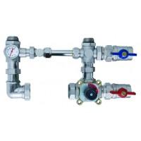 Смесительный узел SM15180 (термометр, балансир, байпас, шар. кран 2 шт., 3-x ходовой клапан)